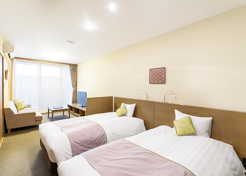 全客室露天風呂付きで45室を展開。