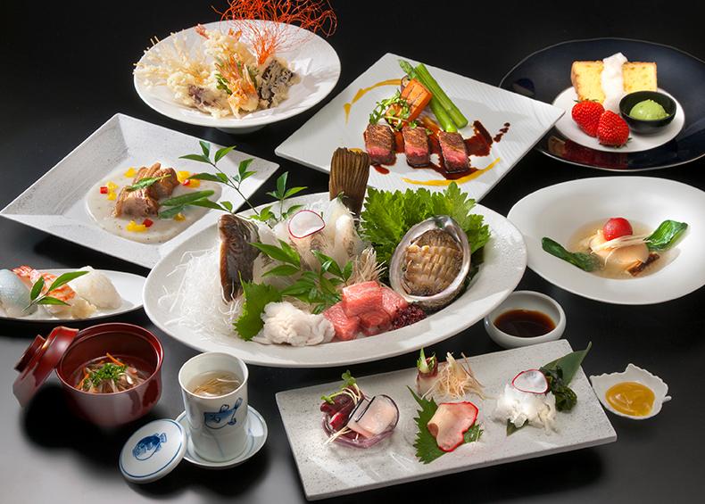 日本の四季に育まれた旬の食材たち。