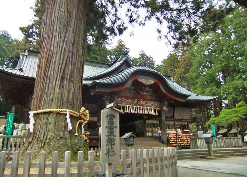 【北口本宮冨士浅間神社】 2013年、富士山世界文化遺産の構成資産として登録された。